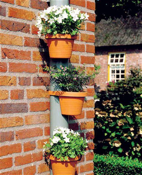 3 terracotta effect drainpipe flower plant pots tubs drain