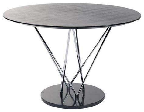 black marble round top modern dining table eurostyle stacy pedestal round dining table w black