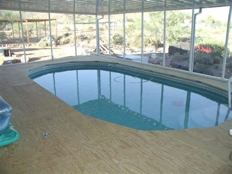 swimming pool awnings above ground pool decking of this job as it was