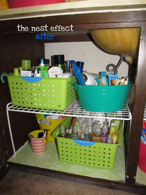 Organize under the bathroom sink around the house