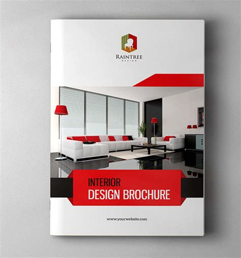 interior design template interior design brochure template 20 in vector