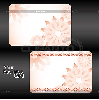 mit business card template orange business card templates mit flowers stock vector