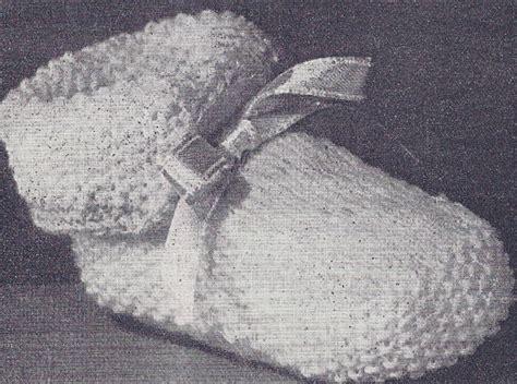 vintage knitting pattern baby booties vintage knitting pattern cuffed boots baby booties shoe ebay