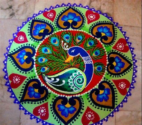 rangoli medical themes peacock kolam rangoli designs for diwali deco