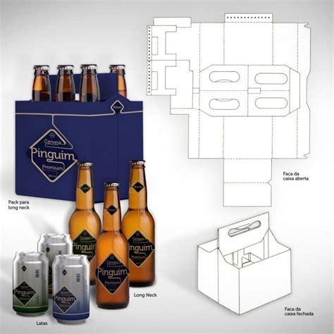 4 pack carrier template faca de corte cerveja template packaging