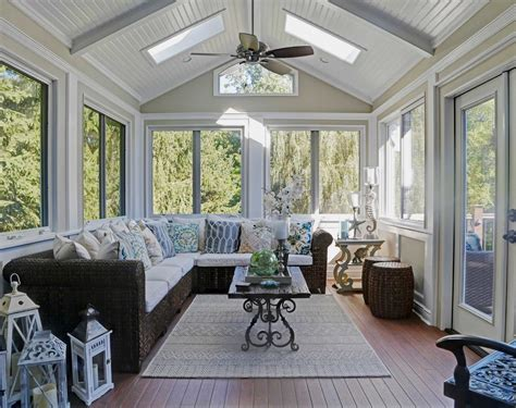 Sunroom Ceiling Ideas by Sunroom Ideas Family Room Traditional With Cabinetry Award