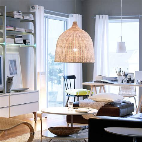modern style led pendant light rattan hand  woven