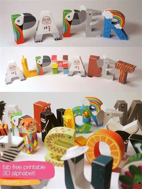 Papercraft Letters - 671 best images about paper craft random on