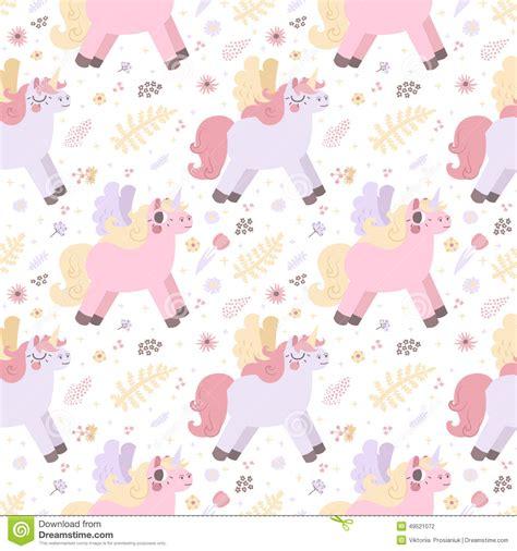 pastel unicorn pattern unicorns seamless vector pattern pastel colors stock