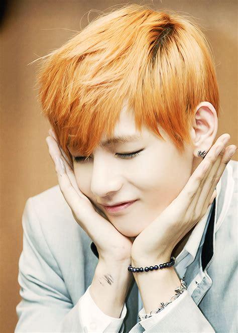 kim taehyung orange hair kpop is my music