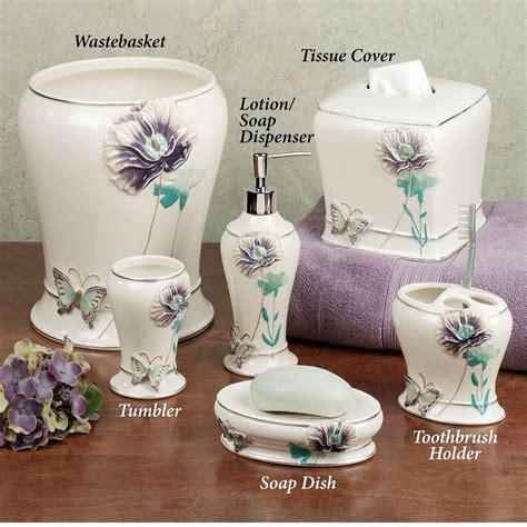 lilac bathroom decor garden gate bath accessories