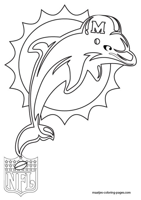 miami dolphins coloring pages