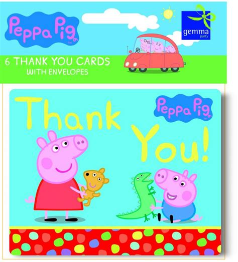 you peppa pig peppa pig thank you cards 163 2 49 best