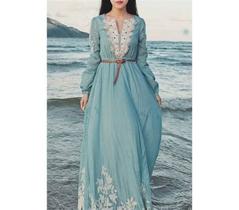 D1969 Baju Dress Gaun Midi Flower Print Casual Wanita promotion islamic clothing for abaya in dubai dubai kaftan baju muslim kaftan dress