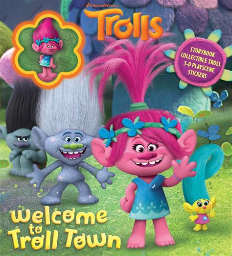 dreamworks trolls welcome to troll town book by tbd