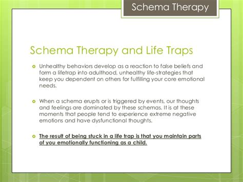 Schema Therapy Worksheets by Schema Therapy