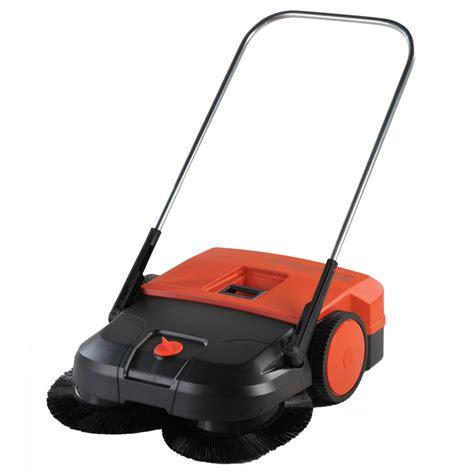 30 quot triple brush push power sweeper 13 2 gallon unoclean