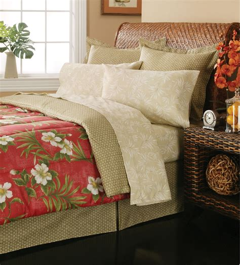 essential home complete bed set hibiscus garden home