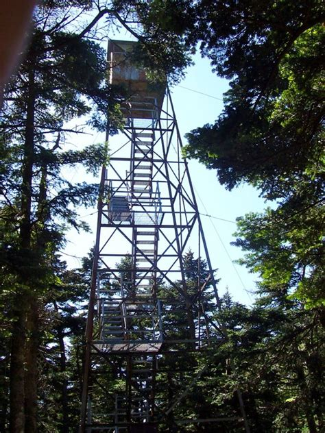 section 8 vt mm 12 2 old fire tower on glastenbury mountain now an
