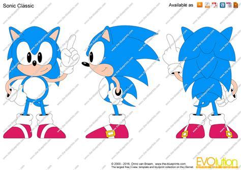 imagenes de vector sonic the blueprints com vector drawing sonic classic