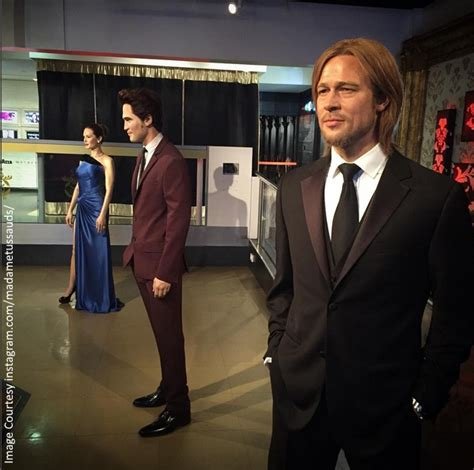 Mourns Of Jolies by Brad Pitt And Wax Figures Split Up