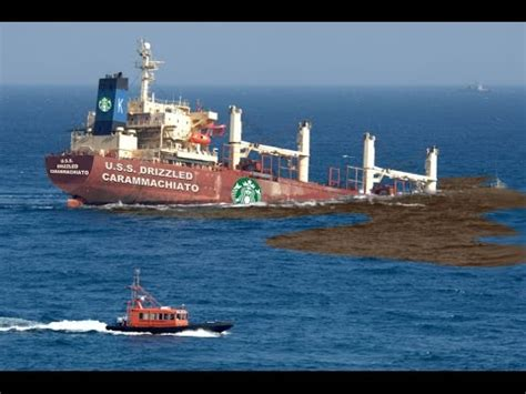 biggest boat ever sunk starbucks supertanker sinks youtube