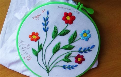 Handmade Embroidery Designs - embroidery designs 107 satin stitch design
