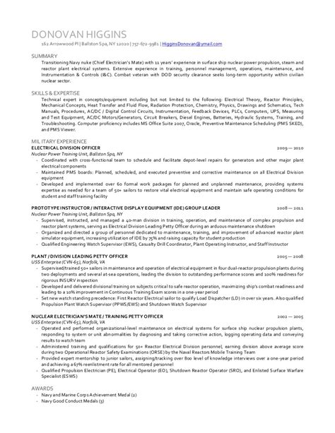 power plant electrical engineer resume sle power plant