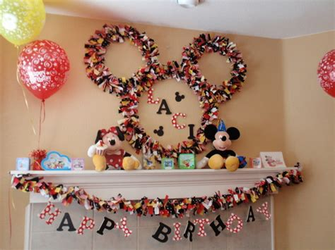 Handmade Birthday Decorations Ideas - trends mickey mouse and minnie mouse on