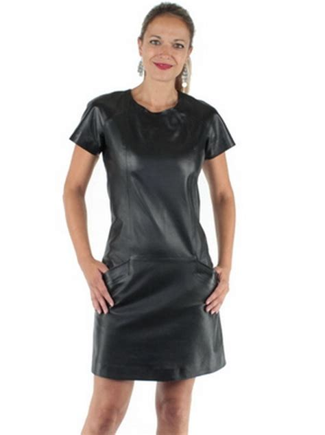 Robe Simili Cuir Noir Mango - robe en cuir noir