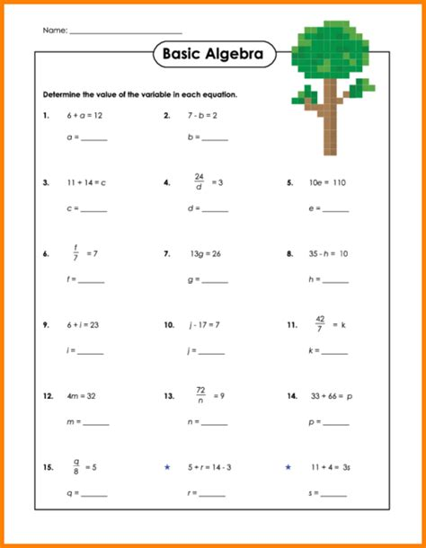 Simple Equations Worksheet by Pictures Simple Equation Worksheets Leafsea