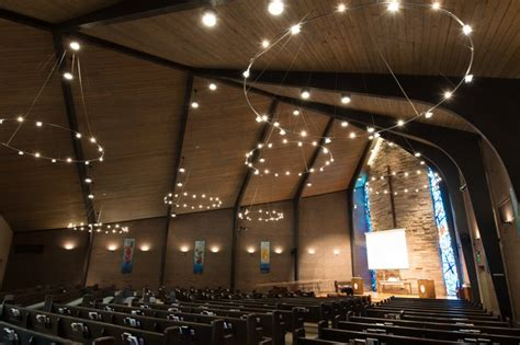 church upgrades to leds to reduce maintenance and heat