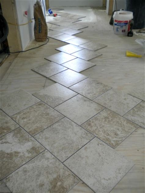 Laying A Tile Floor by How To Lay Tile As Far As I S Big Idea