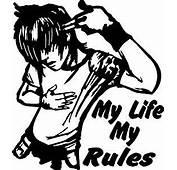 Indiashopers My Life Rule Windows Sides Hood Bumper