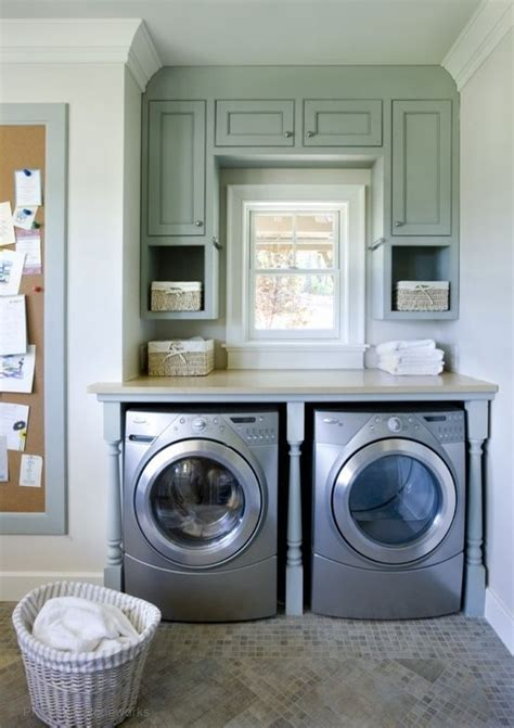 cabinets above washer dryer have to do something like this for cabinets in laundry
