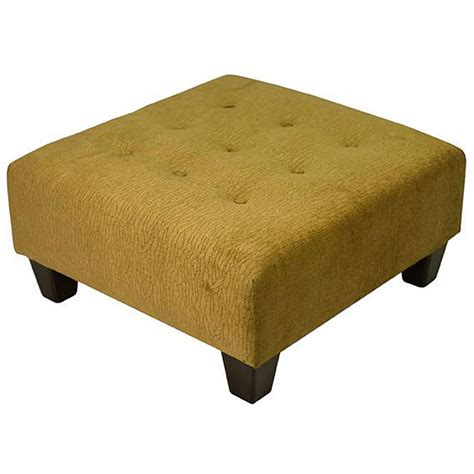 Overstock Tufted Ottoman Textured Chenille Tufted Beige Gold Cocktail Ottoman Overstock Shopping Great Deals On