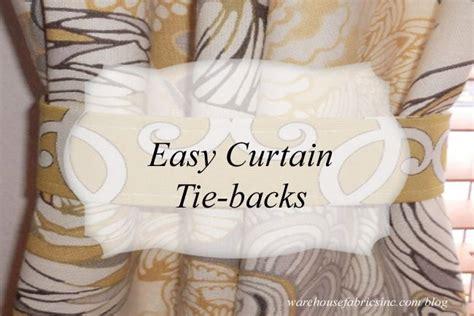 easy curtain tie backs easy curtain tie backs sewing adventures pinterest