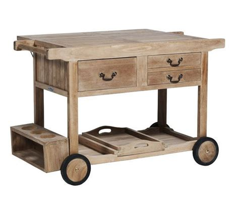 table roulante de jardin table desserte jardin