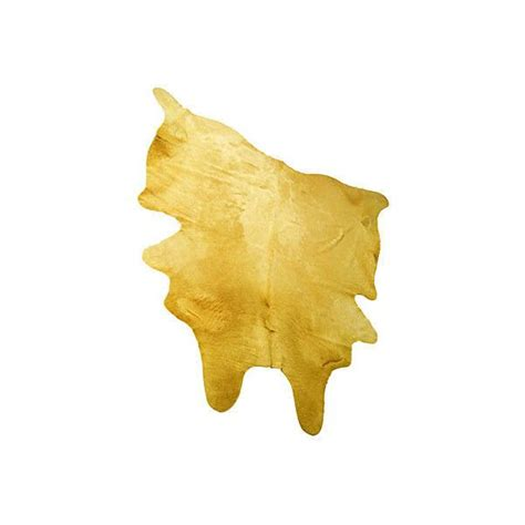yellow cowhide rug yellow hide 6 x 6 hide rugs animal rug 34 280 php liked on polyvore featuring home rugs