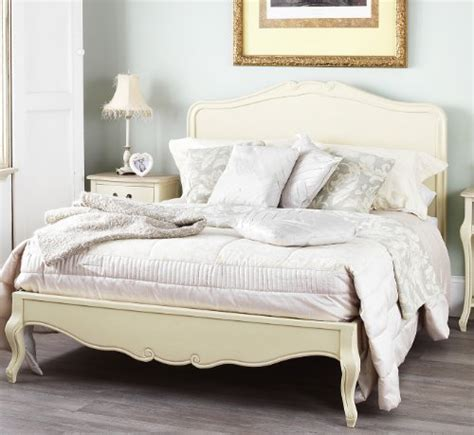juliette shabby chic chagne double bed with wooden