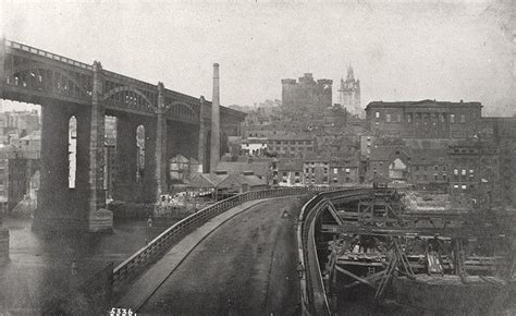 when was the swing bridge built high level bridge and old tyne bridge with the swing