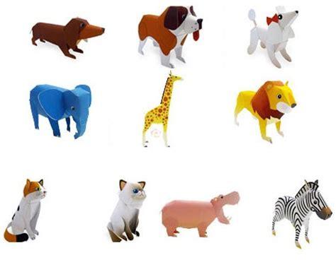 Paper Craft Animals - fuji xerox zoo animals pets papercraft paperkraft net