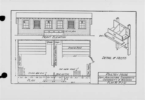 poultry house plans the state index of plans october 1924 poultry house plan no p 1