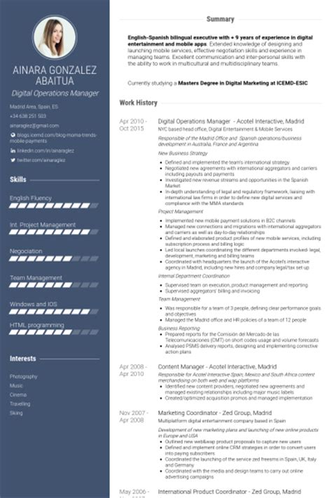 interactive resume template interactive resume exles resume format 2017