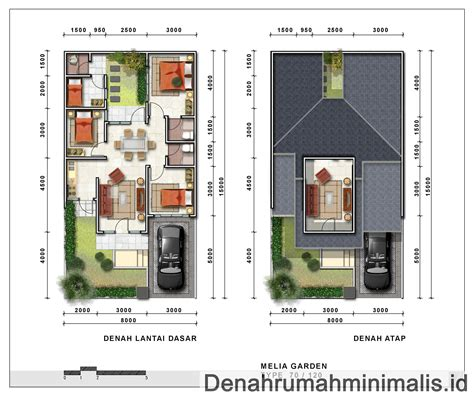 layout rumah luas tanah 90 desain 3d terbaik denah rumah minimalis type 70 1 lantai