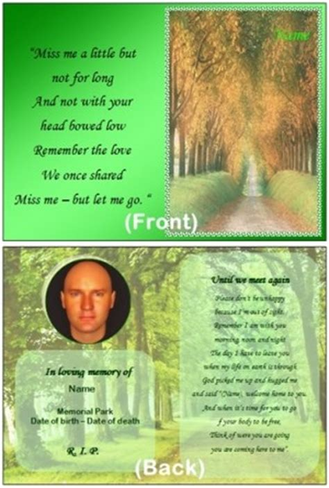 memorial cards for funeral template free until we meet again funeral quotes quotesgram