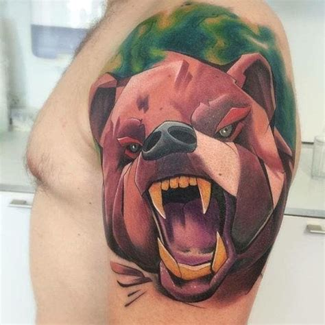 tattoo 3d flash 3d bear tattoo flash creativefan