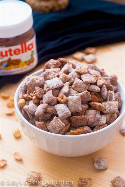 nutella puppy chow salted peanut nutella puppy chow sallys baking addiction