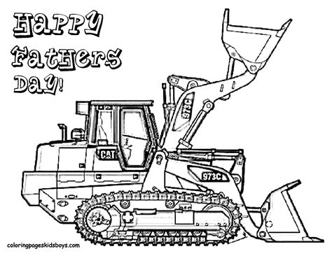 excavator truck coloring page excavator coloring pages fathers day coloring pages