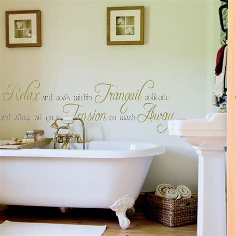 wall decals in bathroom bathroom quotes wall decals quotesgram